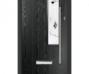 murano black door