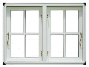 side hung window white