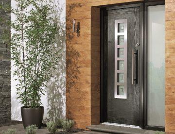brown composite front door