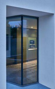 corner glass panel