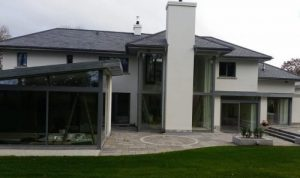 modern house windows