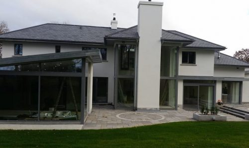 modern house windows